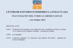 Invitación Inauguración Curso Académico 2019-20