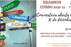 Convoc. Reunión Erasmus 2020-21